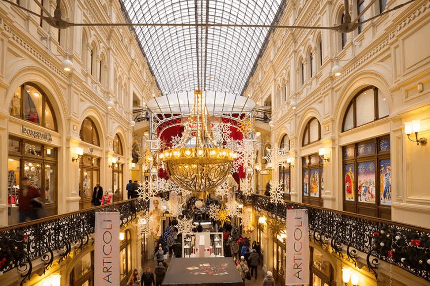 Galerias-GUM-en- Moscú