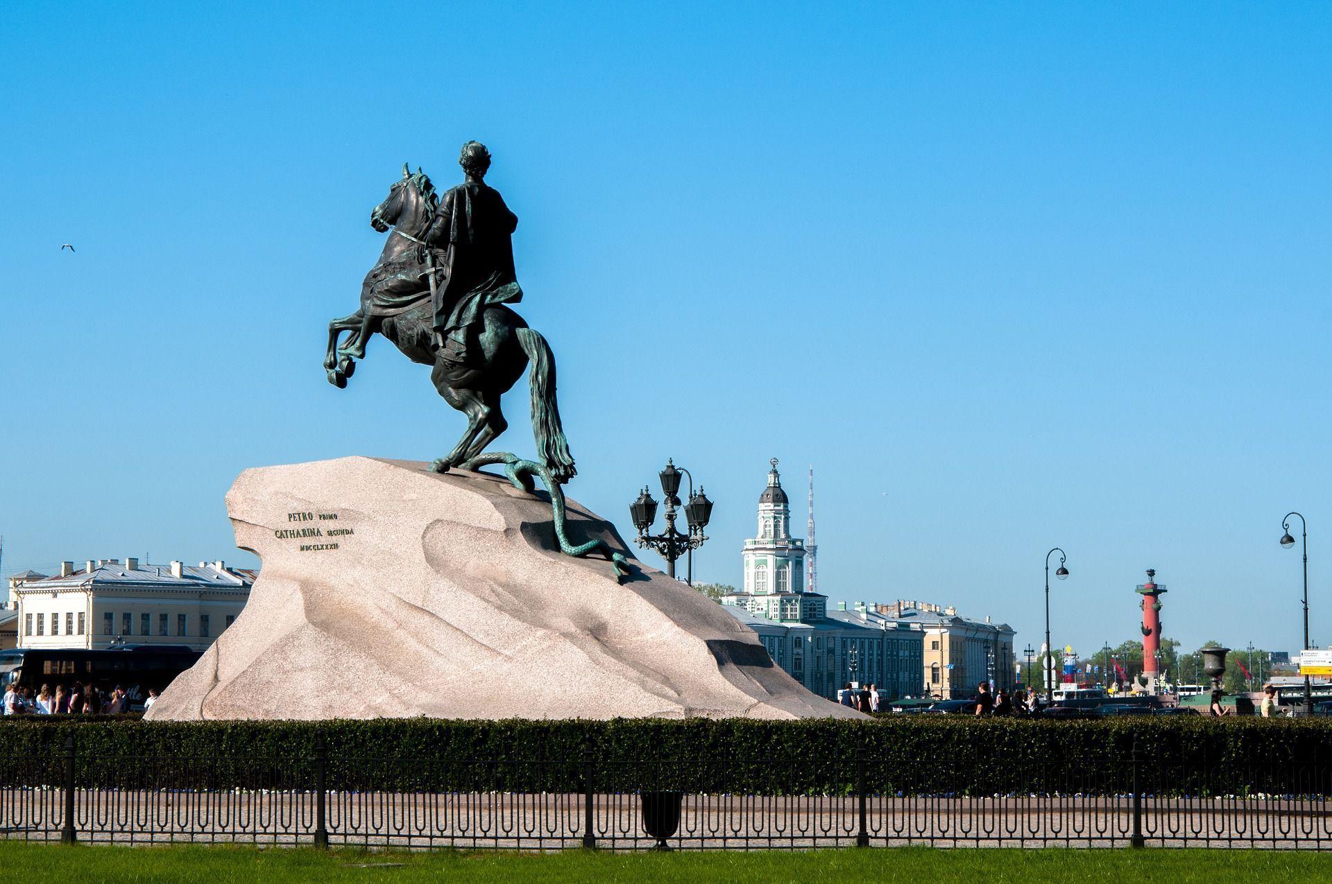 Monumento de Pedro el Grande el jinete de bronce