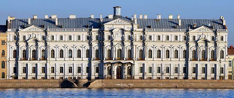 Exteriores del Palacio de Mármol  y el nuevo Palacio Mijaílovsky