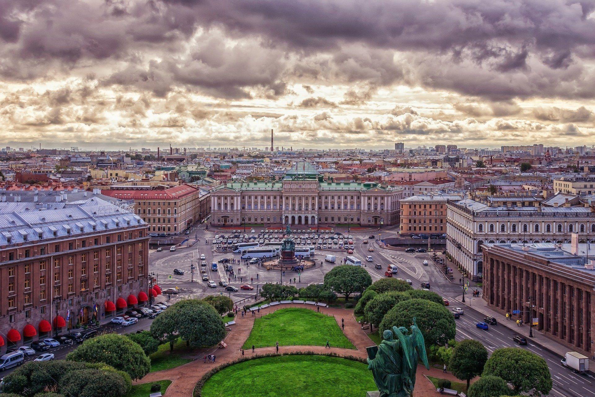 Exteriores del palacio Mariinski y finalización de la excursión